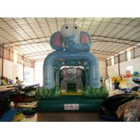 Quality New Kids Inflatable Bounce House Cute Inflatable Elephants Mini Bouncer For Birthday Party Present for sale