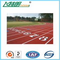 Polyurethane Athletic Running Track Flooring / Synthetic Rubber Track Flooring Jogging Track