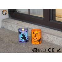 Quality Lovely Halloween Flameless Candles , Led Halloween Candles 100 / 180 / 375g for sale