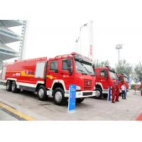China Sinotruck HOWO 6x4 water tender fire truck 12000L - 16000L with  water rescue equipment on sale