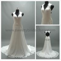 Buy cheap Aline V-Neck Straps Low Back Lace and Chiffon Wedding Dress #LT2160 from wholesalers