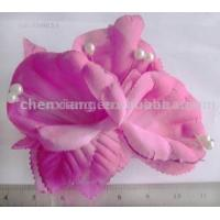 China artifical hair  flower with bead on sale
