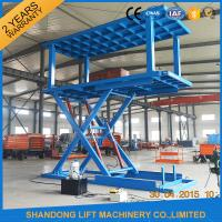 Quality Platform Hydraulic Double Deck Car Parking System , Underground Garage Car Parking Lifter for sale