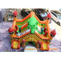 Quality Indoor Trampoline Inflatable Dinosaur Bouncy Castle 6 * 5 * 5m Or Customized for sale