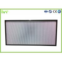 China H10 - H14 Efficiency Hepa Filter Replacement , Pleated Panel Air Filters Easy To Install on sale