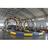 Quality Big Sealing Material Long Inflatable Race Track For Outdoor Karting Games Interesting inflatable sport games for sale