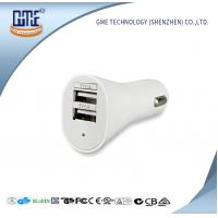 Quality Universal USB Power Adapter 5V 2.1A / 2.4A Double USB Car Charger for sale
