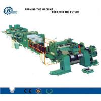 Quality High Speed Sheet Roof Metal Slitting Line / PLC Control Stainless Steel Slitting Machine for sale