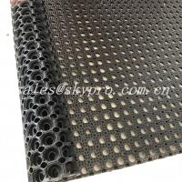 Buy cheap Anti Slip / Anti Fatigue Interlocking Porous Rubber Floor Mat , Thickness 8mm - 50mm from wholesalers