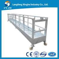 Quality hot galvanized / aluminum Motion Suspended Gondola Platforms, Swing Stage for sale