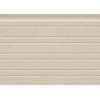 Buy 38 Kg / M3 Embossed Exterior PU Sandwich Wall Panel Thermal Insulation 380mm at wholesale prices