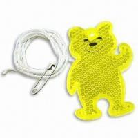 Quality Bear-shaped Reflector, Available in 3 Standard Colors for sale