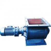 Quality Rotary airlock valve YJD 18 stainless steal or cast iron rotary feeder in blue for sale