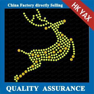 China best selling hot fix motif ;wholesale rhinestone hotfix for christmas;latest designer for christmas decoration on sale