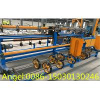 Quality 3m width servo motor singel wire feeding Full Automatic Chain Link Fence   Machine for sale