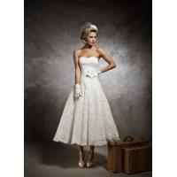 Quality Short Sweetheart Low back wedding dress Bridal gown#dq4607 for sale
