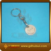 Quality metal trolley coin keychain for sale