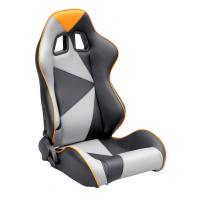 Quality Adjustable Style PU / PVC Leather Racing Seat / Sports Car Seat with single slider for sale