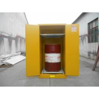China Vertical Oil Drum Storage Cabinets , Flammable Safety Cabinet 75 Gallon on sale