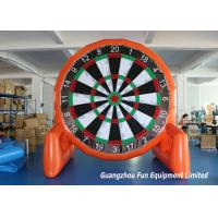 Quality Customized Size Inflatable Sport Games , Airtight Giant Inflatable Foot Darts for sale