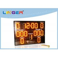 Quality Indoor Outdoor LED Basketball Scoreboard Yellow Color with Waterproof Frame for sale