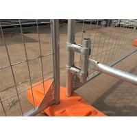 Quality Hot Dipped Galvanized 300gram/sqm 42 microns zinc layer thickness Temporary Fence Panels 2.1mx2.4m for sale