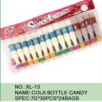 Quality Sweet Straw Bottle Cola Sugar Powder Candy With Different Flavor / Color for sale