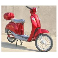Quality Hand Brake 350w Electric Moped Bike With Permanent Magnet Brushed DC Motor for sale