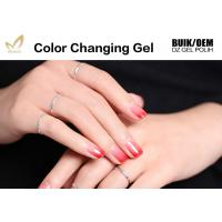Quality Easy Peel Off Colour Changing Gel Nail Polish , Heat Sensitive Nail Polish for sale