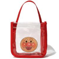 Quality Remarkable Waterproof Tote Bag Red / Blue Color With Smile Face Printing for sale