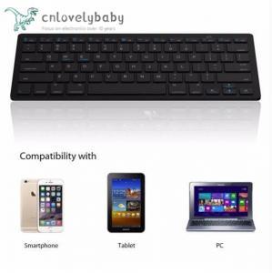 Quality Ultra-slim Wireless Keyboard Bluetooth 3.0 Keyboard Teclado for Tablets / Laptops / PC for sale