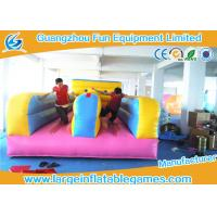 Quality Multifunctional  2 Lines Inflatable Bungee Run Games With 0.55mm Plato PVC Tarpaulin for sale
