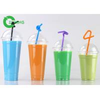 Quality Recycled Custom Disposable Plastic Cups With Dome Lid Stocked For Coffee for sale