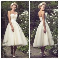 Quality Short wedding gown shoulders Bridal wedding dress#Frenchie-W182 for sale