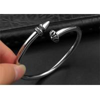 Quality Punk Womens Black Open Bangle Bracelet With Customized Logo , CE Certisficated for sale