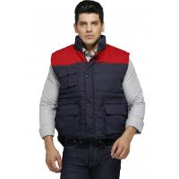 China Two Tone Heavy Duty Work Vest / Winter Safety Vest With Multi Storage Pockets on sale
