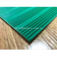China Green 3mm Thick Durable Corrugated Rubber Sheet Anti in Roll Colorful Rubber Matting on sale