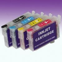 Quality Refillable Ink Cartridges with Ink, Compatible for Epson with Chip for sale