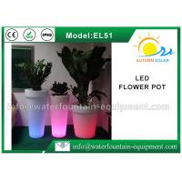 Quality IP68 Waterproof LED Flower Pot , Smart Controlled Changing Colored Pool Lights for sale