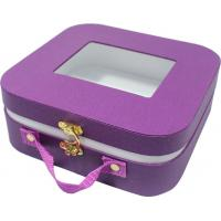 Quality Small cute paper gift case , safety creative gift boxes rounded corner metal lock for sale