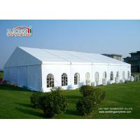 Quality Easy Instalaltion  400 People  Aluminum Wedding Marquee Tent With Clear Window Sidewalls for sale