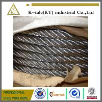 China 6x36 stainless steel wire rope steel cable  for crane on sale