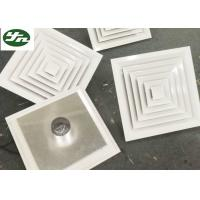 Air Pipe Inlet Square White Aluminium Grille Directional Air Diffuser For Cleanroom for sale