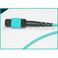 Buy 3.0mm 100Gbps 24F MPO MTP Mating Fiber Optical Multimode OM3 Trunk Method B at wholesale prices