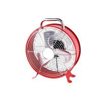Quality Red Electric Retro Clock Fan With Carry Handle 2 Speed VED Plug CE CB for sale