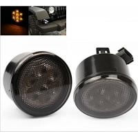 Quality Yellow Front Jeep Wrangler Turn Signal Lens, Smoke Len Jeep Wrangler Tail Lights for sale