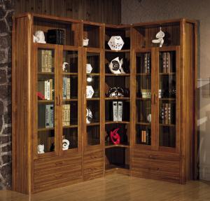 Quality Modern study room furniture /Corner bookcase bookshelf wooden for sale