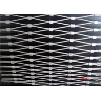 China SS316 Ferrule Wire Rope Mesh , Size Customized Stainless Steel Rope Mesh on sale