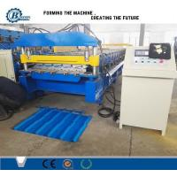 China Cold Rolled Metal Roofing Roll Forming Machine , IBR Sheet Metal Roofing Machine on sale