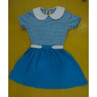 Quality Blue Striped Children'S Cotton Pajamas Matching Brother Sister Clothes for sale